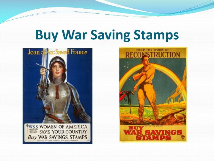 Buy War Saving Stamps