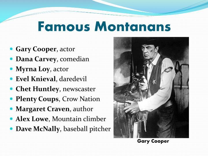 Famous Montanans