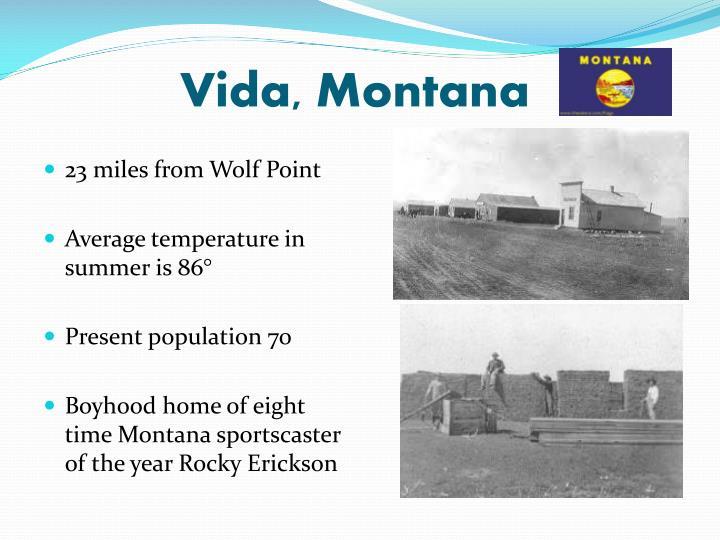 Vida, Montana