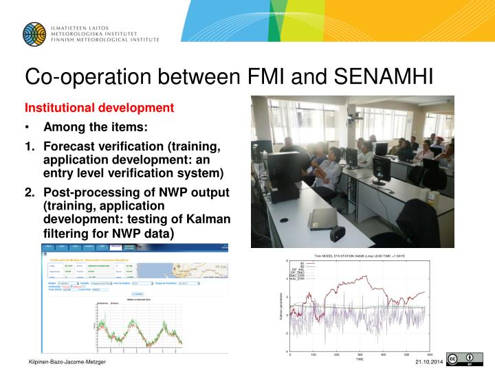 Co operation between fmi and senamhi