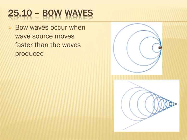 25.10 – bow waves