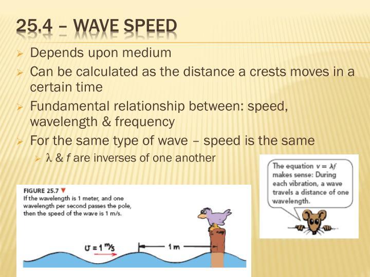 25.4 – wave speed