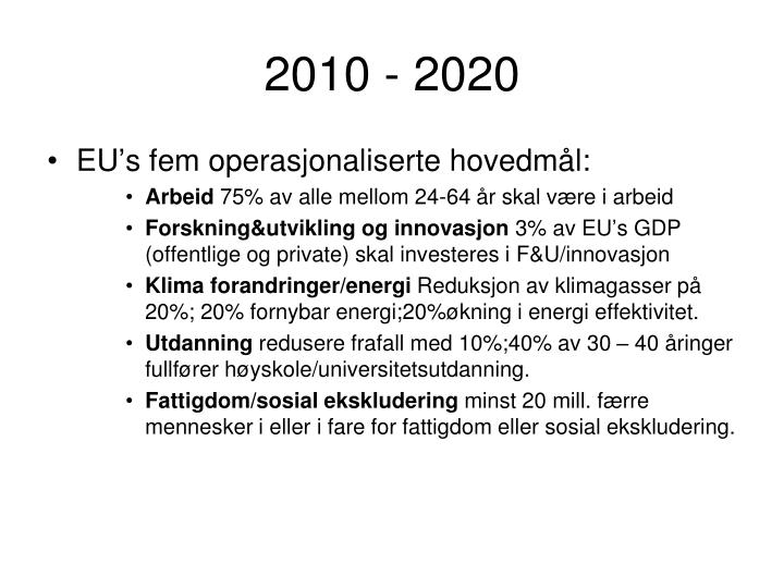 2010 - 2020
