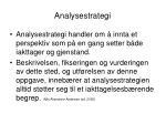 analysestrategi