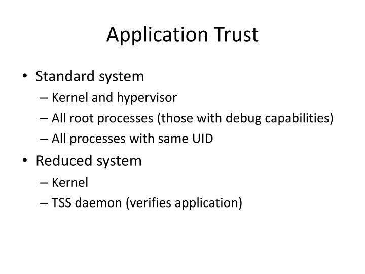 Application Trust