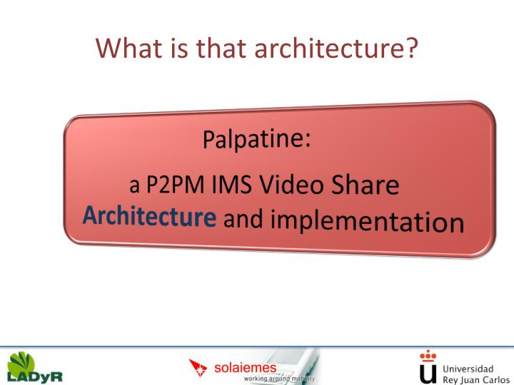 What is that architecture?