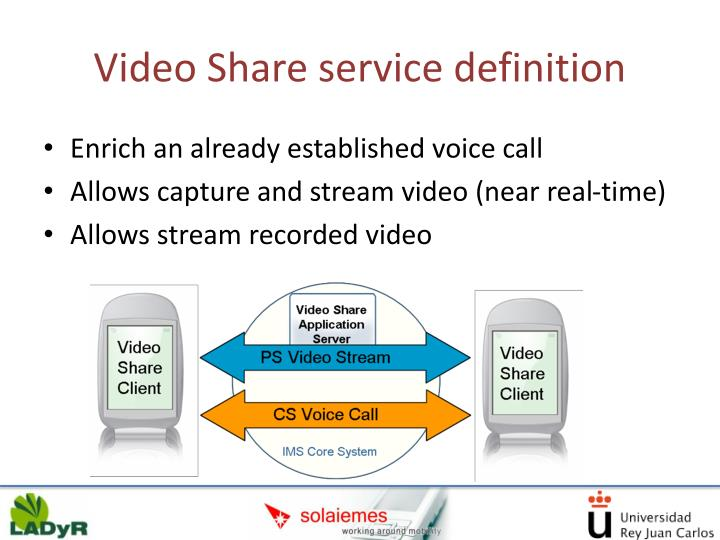 Video Share service definition