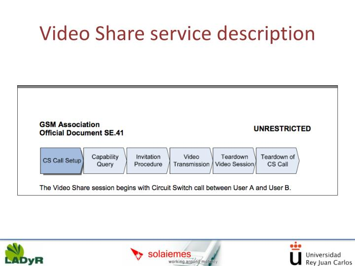 Video Share service description