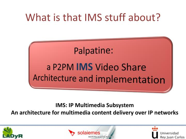 What is that IMS stuff about?