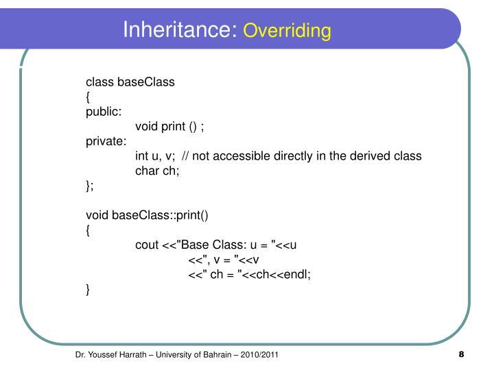 Inheritance: