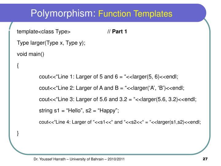 Polymorphism: