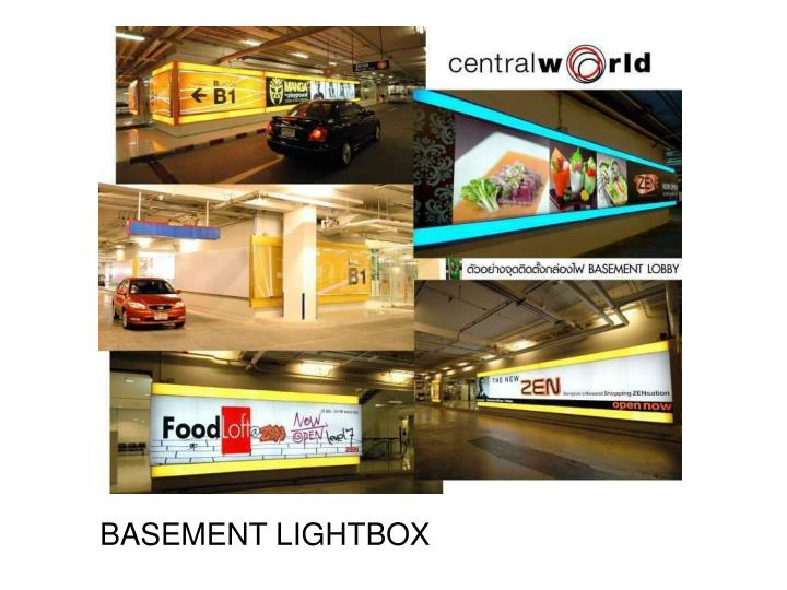 BASEMENT LIGHTBOX