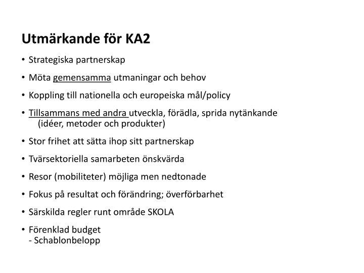 Utmärkande för KA2