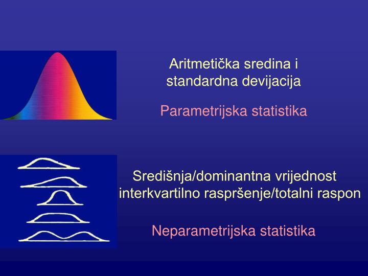 Aritmetička sredina i standardna devijacija