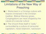 limitations of the new way of preaching