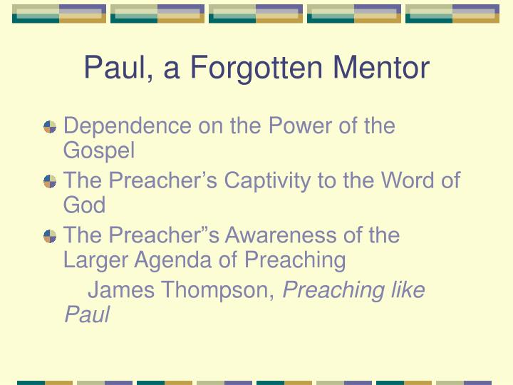 Paul, a Forgotten Mentor