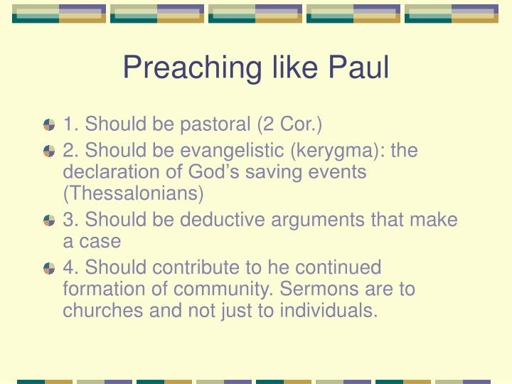 Preaching like Paul