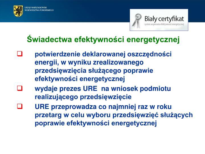 Świadectwa efektywności energetycznej