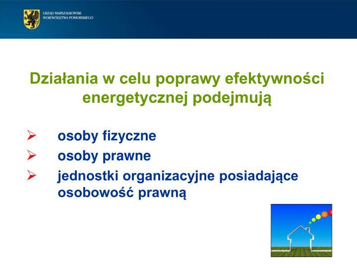 Działania w celu poprawy efektywności energetycznej podejmują