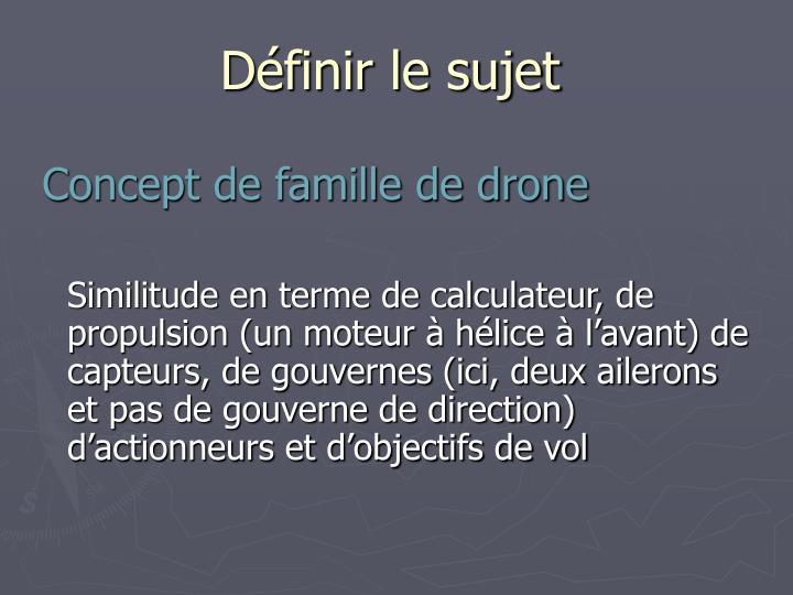 Concept de famille de drone