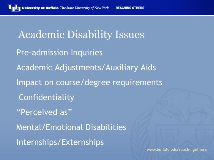 Academic Disability Issues