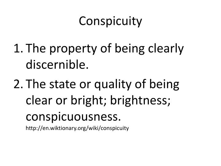 Conspicuity