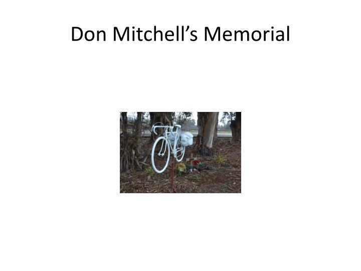 Don Mitchell's Memorial