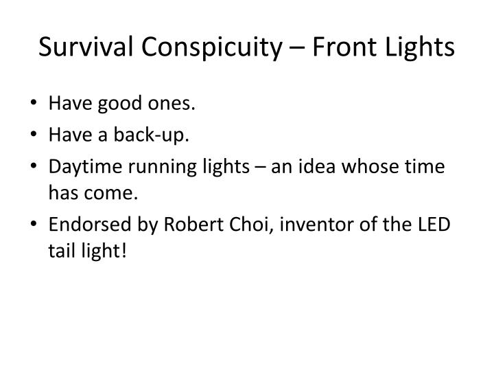 Survival Conspicuity – Front Lights
