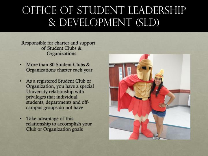Office of student leadership development sld