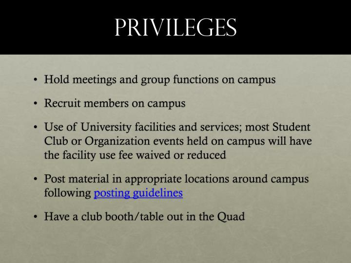 Privileges