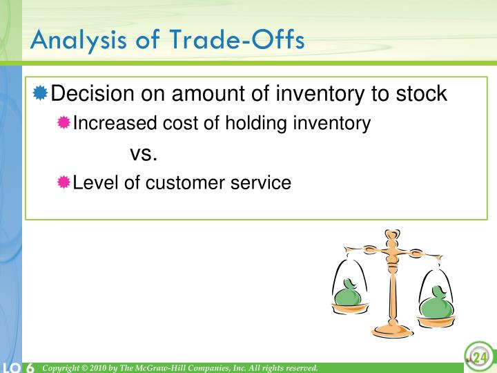 Analysis of Trade-Offs