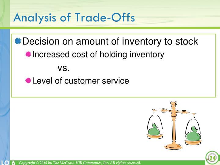 Analysis of Trade-Offs