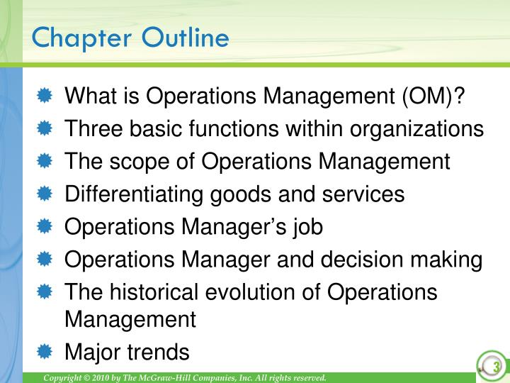What is Operations Management (OM)?