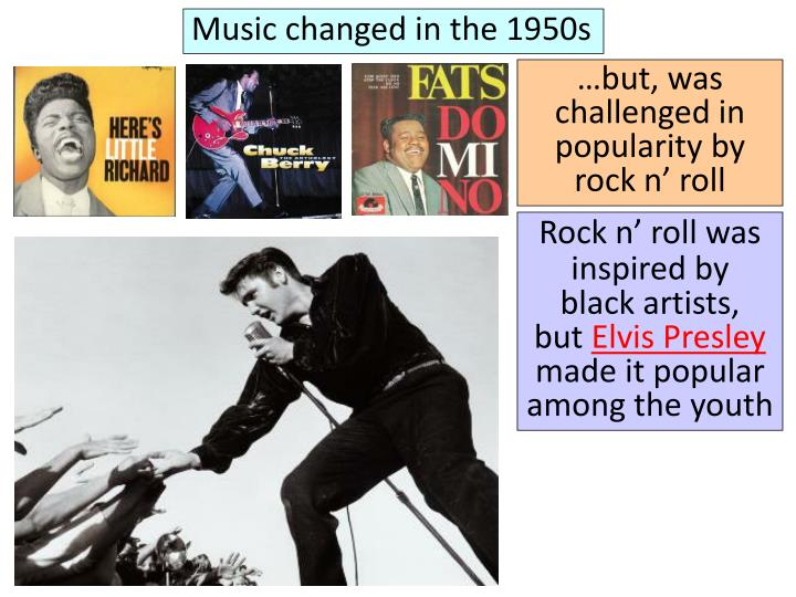 Music changed in the 1950s