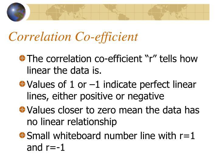 Correlation Co-efficient