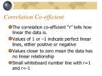 correlation co efficient