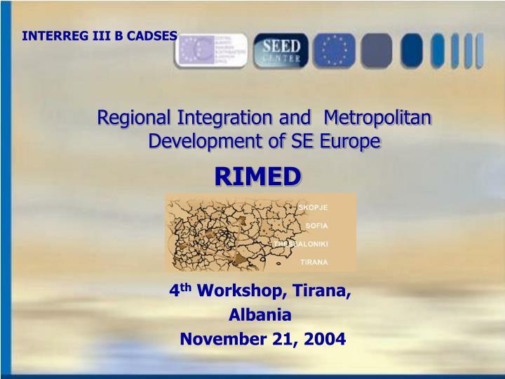 INTERREG III B CADSES