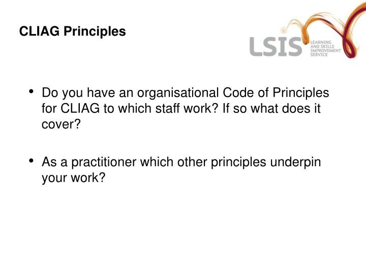 CLIAG Principles