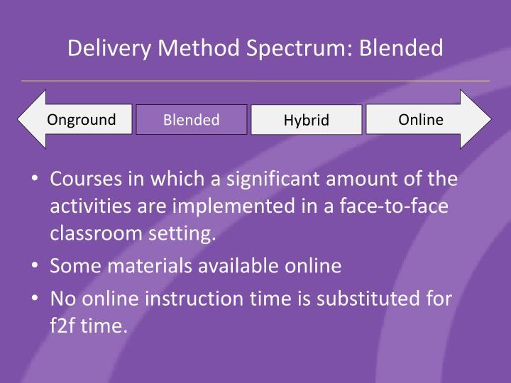 Delivery Method Spectrum: Blended