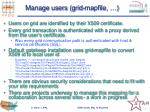 manage users grid mapfile