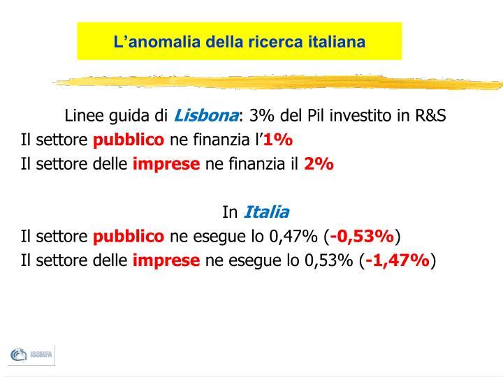 L'anomalia della ricerca italiana