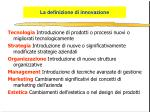 la definizione di innovazione1