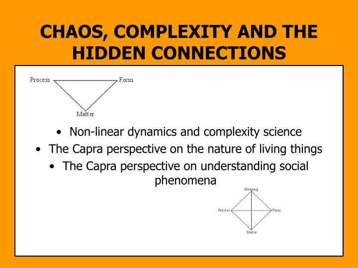 CHAOS, COMPLEXITY AND THE HIDDEN CONNECTIONS