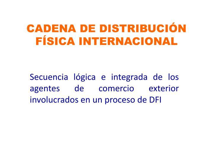 CADENA DE DISTRIBUCIÓN FÍSICA INTERNACIONAL