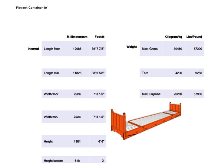 Flatrack-Container 40'