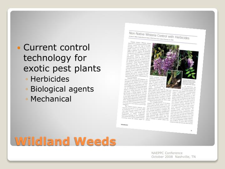 Current control technology for exotic pest plants