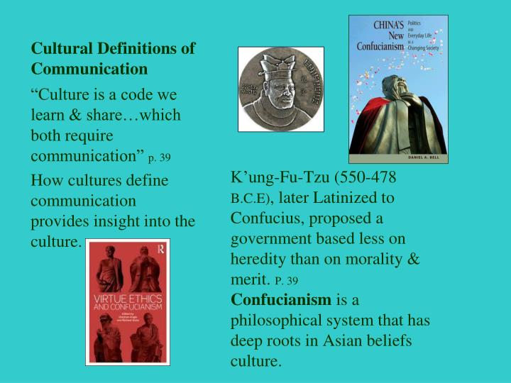 Cultural Definitions of