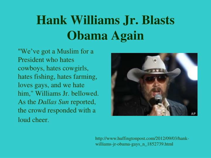 Hank Williams Jr. Blasts Obama Again
