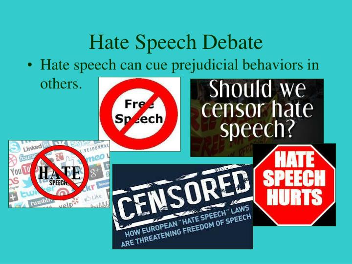 Hate Speech Debate
