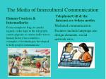 the media of intercultural communication